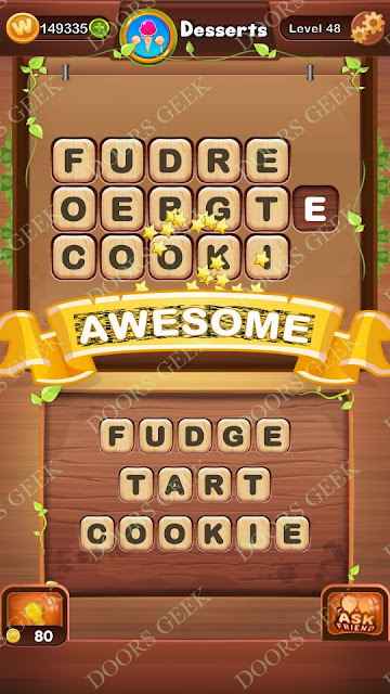 Word Bright Level 48 Answers, Cheats, Solutions, Walkthrough for android, iphone, ipad and ipod