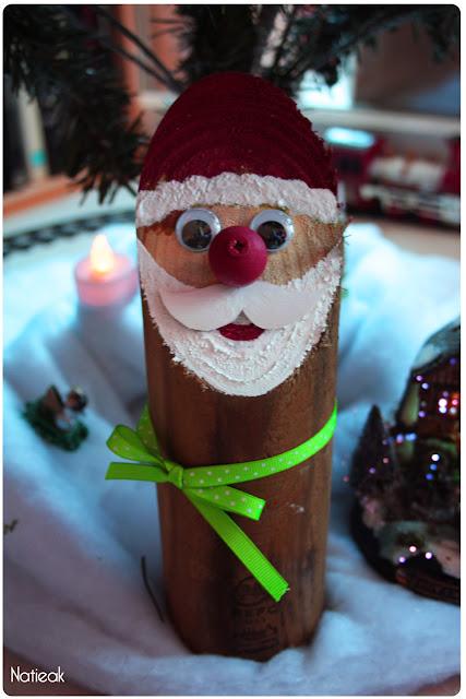 Père Noël en rondin de bois PEFC
