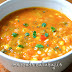 Sopa picante de verduras y maíz (con mole poblano)