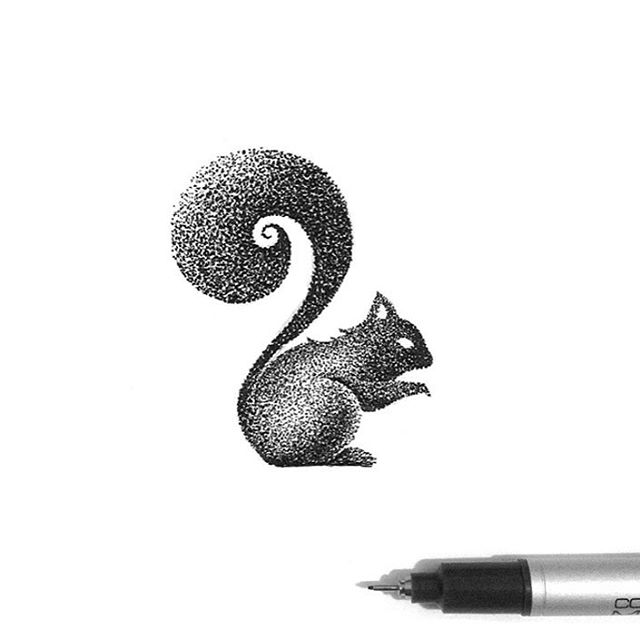 17-Tiny-Squirrel-Thiago-Bianchini-Eclectic-Collection-of-Drawings-and-Illustrations-www-designstack-co