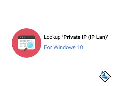 วิธีดู Private IP (IP Lan) ใน Window 10