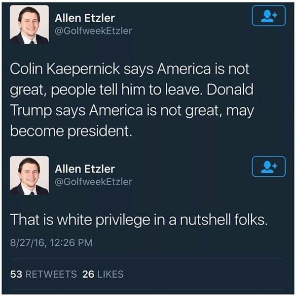 White power: Between Donald Trump and Colin Kaepernick