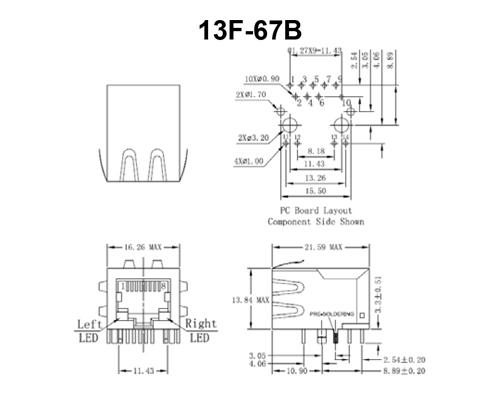 Poe Solution-RJ45 Magnetics(PoE)-POE RJ45 Series ( PoE