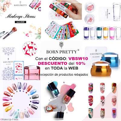 MakeUp-Finds-CON-EL-CÓDIGO-VBSW10-Descuento del 10% en BornPrettyStore.com