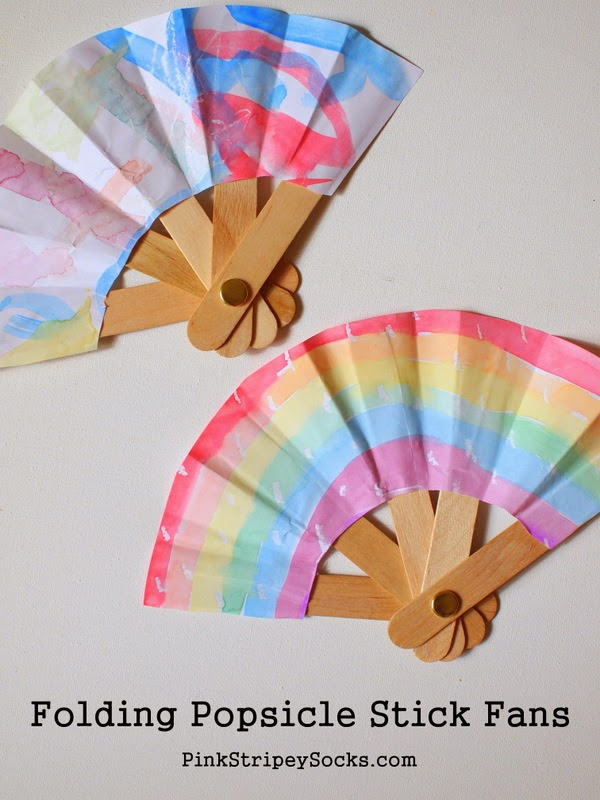 Make a folding popsicle stick fan!