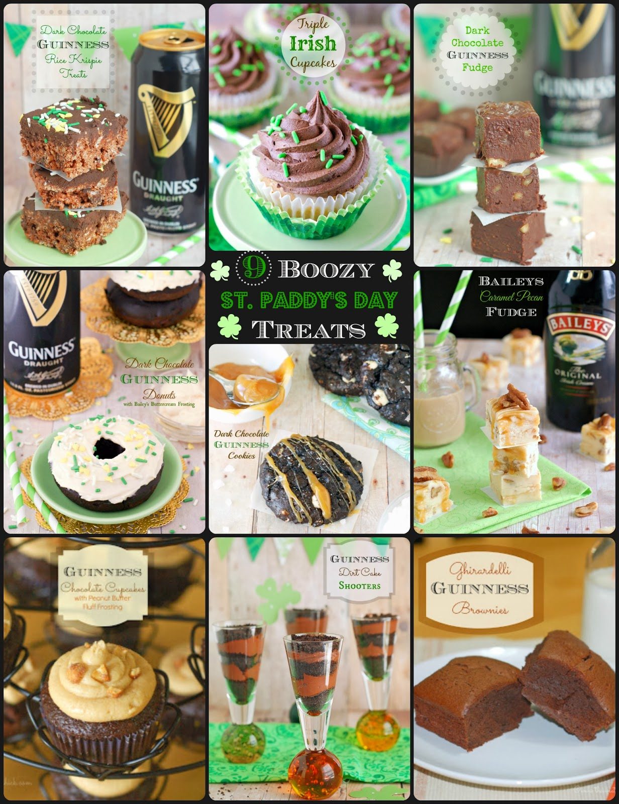 9 Boozy St. Paddy's Day Treats by The Sweet Chick