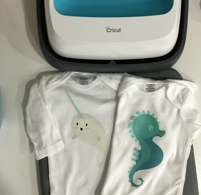 Use Cricut's new Iron On designs to make a DIY baby shower gift that only takes about 5 minutes. All you need is an iron or EasyPress!