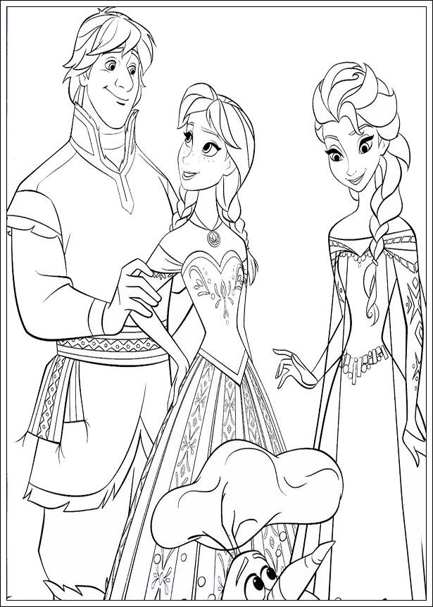 Malvorlagen Disney Die Eiskönigin - Ausmalbilder