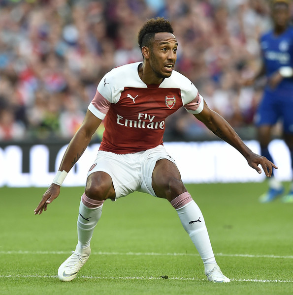 Pierre-Emerick Aubameyang of Arsenal during the Pre-season friendly International Champions Cup game between Arsenal and Chelsea at Aviva stadium on August 1, 2018 in Dublin, Ireland.