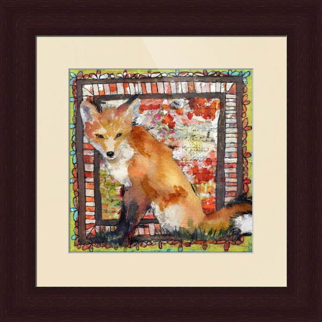 fox art | fox print by Miriam schulman @schulmanArt | learn more http://schulmanart.blogspot.com/2015/12/5-most-loved-instagram-posts-2015.html