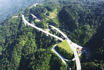 foto aérea da Rodovia dos Imigrantes – SP