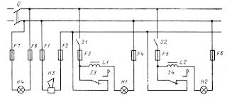 Схема коммутатора сигнальных огней