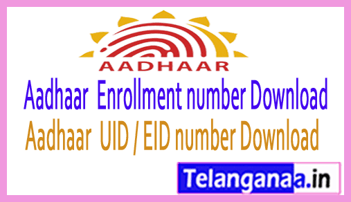 Aadhar card number(UID) and Enrollment number with UID Number Download
