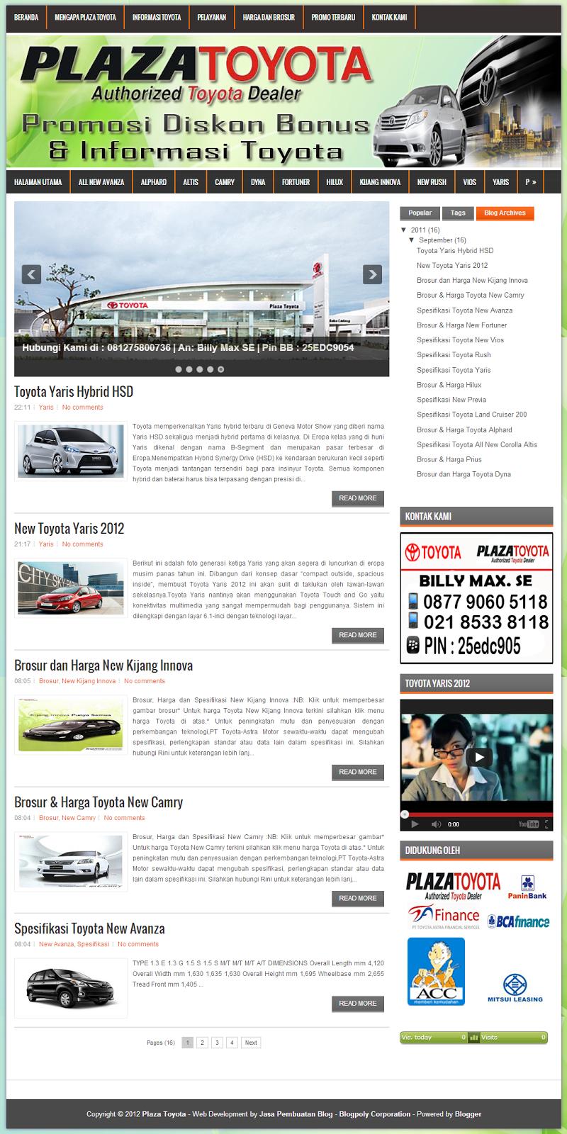 Jasa Pembuatan Blog Sales Mobil