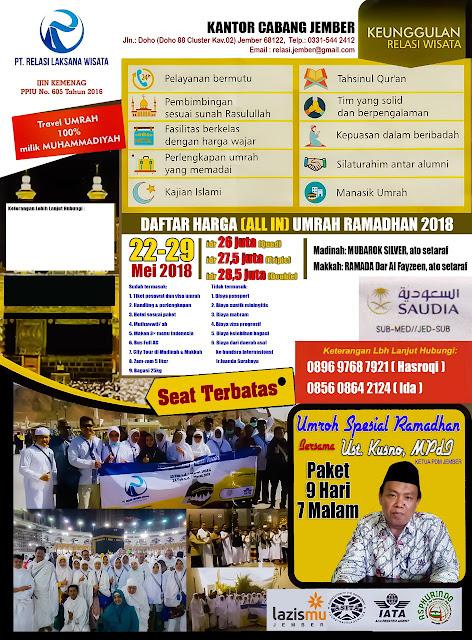 Promo Umroh melalui PT. Relasi selama Bulan Ramadhan 1439 H