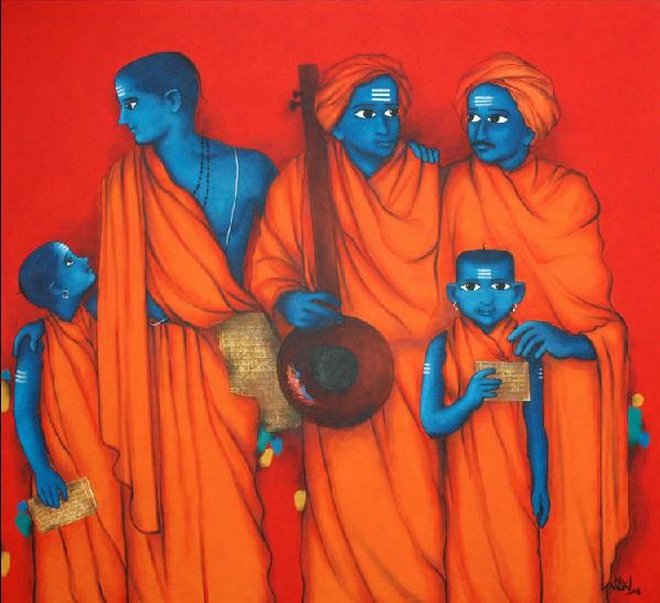 Paintings By Indian Artist Nitin Ghangrekar
