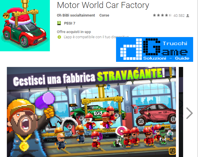 Trucchi Motor World Car Factory Mod Apk Android v1.7800