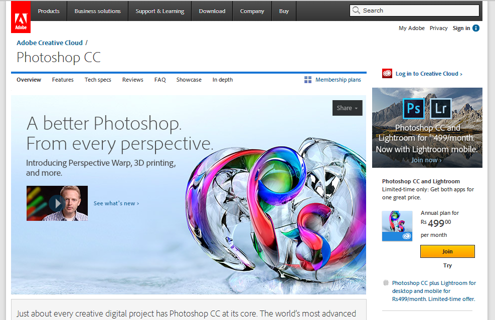 Best photo editing software for MAC - Photoshop CC