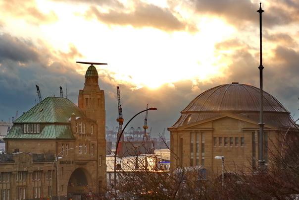 Eingang, St Pauli, Elbtunnel, alt, alter, Schiffsbahnhof, Landungsbrücken