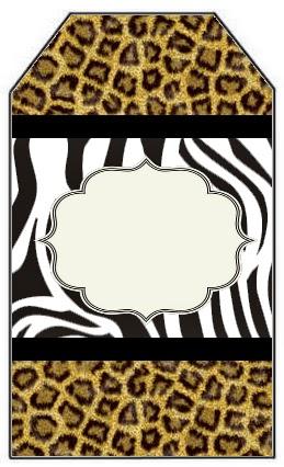 Marcapaginas para Imprimir Gratis de Leopardo y Cebra.
