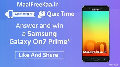 Free Samsung Galaxy On7 Prime