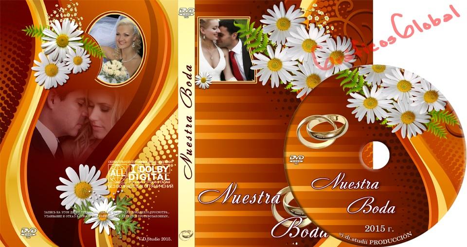 Portada DVD color rojizo plantilla psd