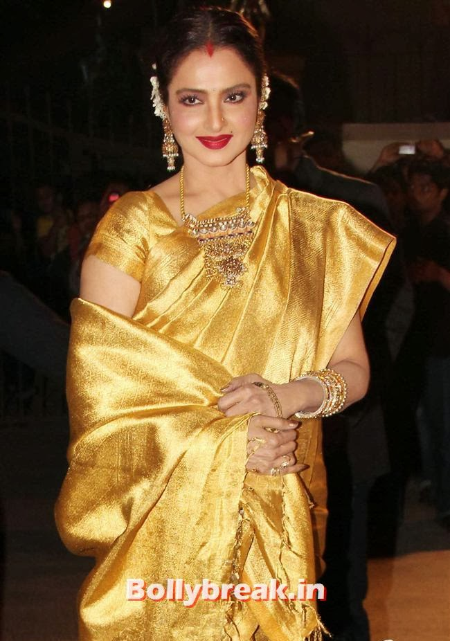 Rekha, Filmfare Awards 2014 Red carpet Images