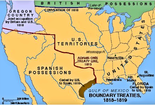 Calexit - Map of us in 1821