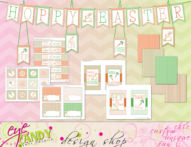 easter printables, hoppy easter party, easter party downloads