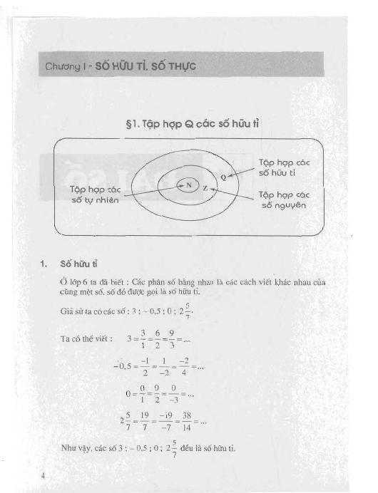 Trang 5 sach Sách Giáo Khoa Toán Lớp 7 Tập 1