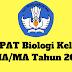 Soal PAT Biologi Kelas 10 SMA/MA Tahun 2019