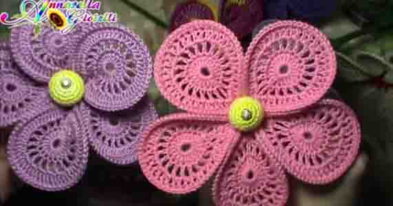 Tutorial Uncinetto Fiore Bomboniera How To Crochet A Flower