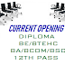 CURRENT OPENING FOR DIPLOMA/BE/BTECH/MBA FRESHER AND EXPERIENCED