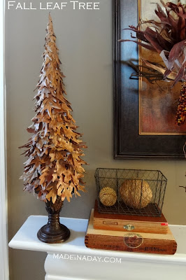 DIY fall leaf tree