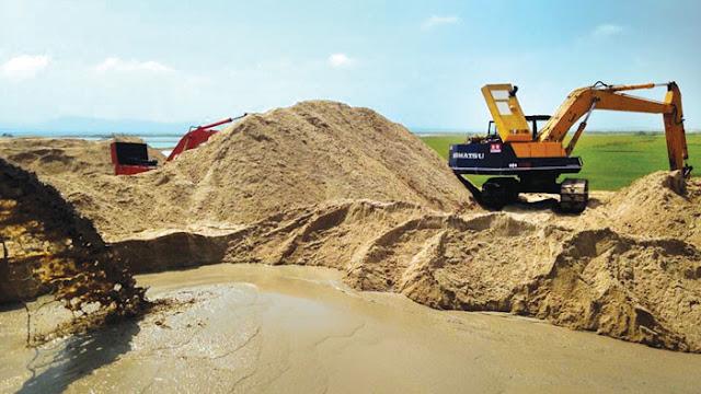 Cung cấp cát vàng, cát đen, cát công trình
