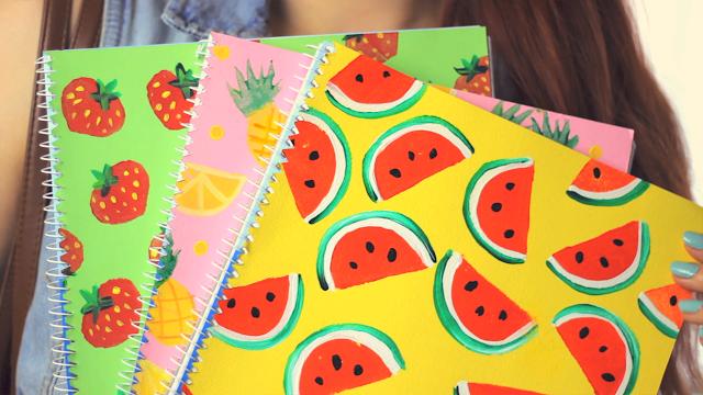 Diy Fruity Notebook Covers Back To School Makoccino
