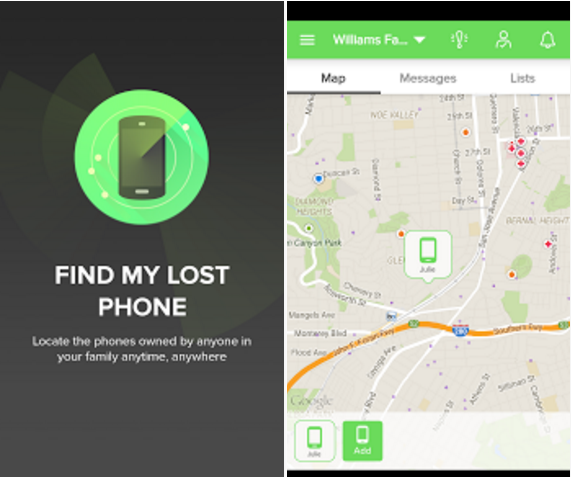 Find My Lost Phone - Application Screenshots