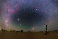 Gegenschein, Total Lunar Eclipse, Milky Way Galaxy, Large Magellanic Cloud Galaxy and Small Magellanic Cloud Galaxy
