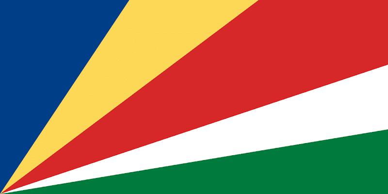 Logo Gambar Bendera Negara Seychelles PNG JPG ukuran 800 px