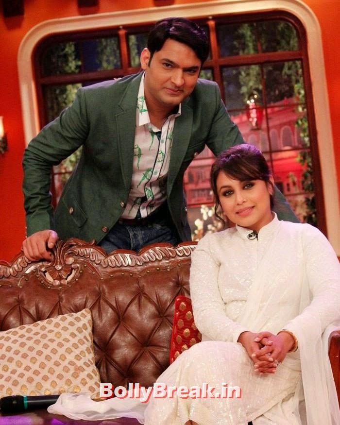 Kapil Sharma, Rani Mukerji, Rani Mukherjee Promotes Mardaani on Comedy nights with Kapil