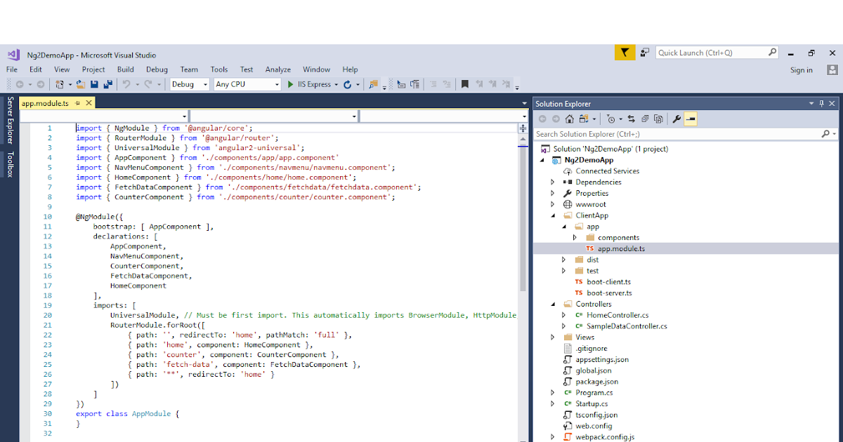 Visual Studio Reactjs Typescript: How To Setup Angular 2 In Visual Studio 2017 MVC 5 / 6