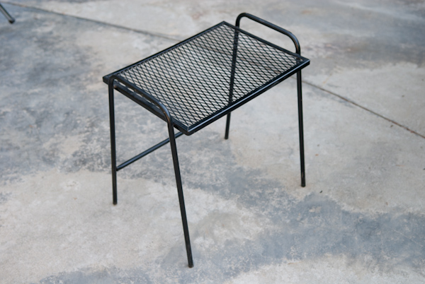 Heygreenie Vintage Wire Mesh Patio Side Table Es Sold