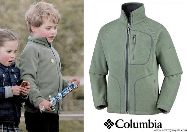 Prince George wore Columbia Fast Trek II Full Zip Fleece jacket