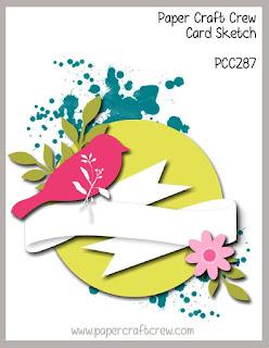 Paper Craft Crew Card Sketch Challenge #PCC287