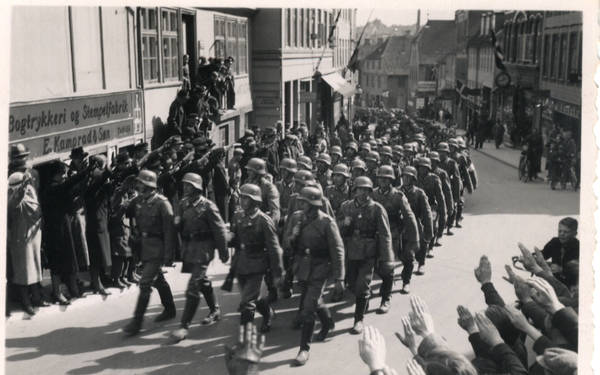12 April 1940 worldwartwo.filminspector.com German marching troops Norway