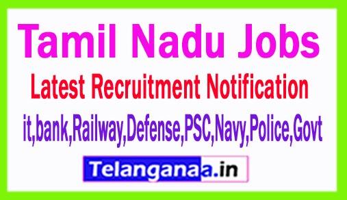 Latest Tamil Nadu Government Job Notifications
