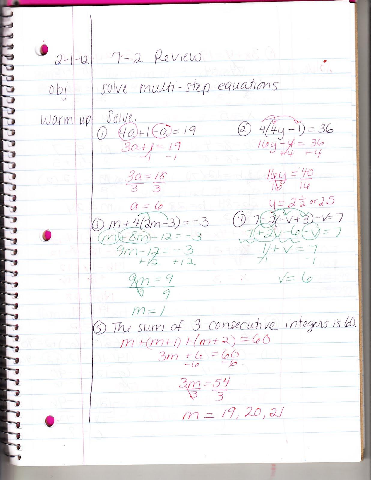 Ms Jean S Classroom Blog 7 2 Solving Multi Step