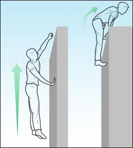 Dip pour franchir un mur