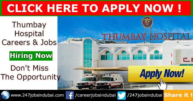 Latest Job Vacancies and Careers at Thumbay Hospitals and Jobs