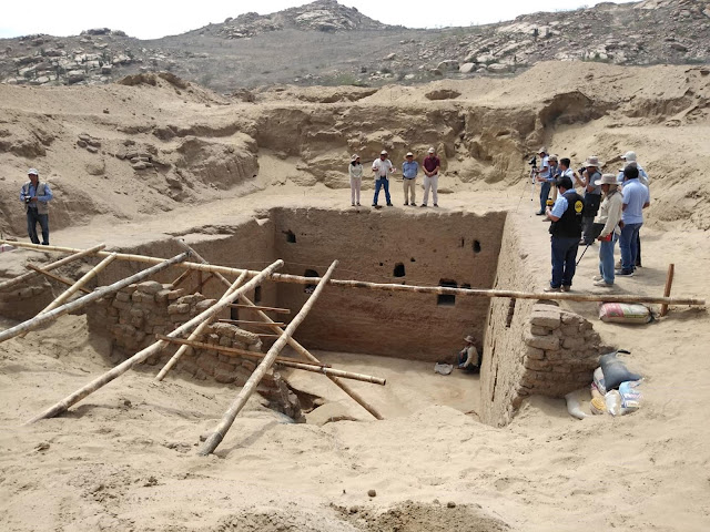 Monumental Inca tomb revealed at archaeological site in Lambayeque